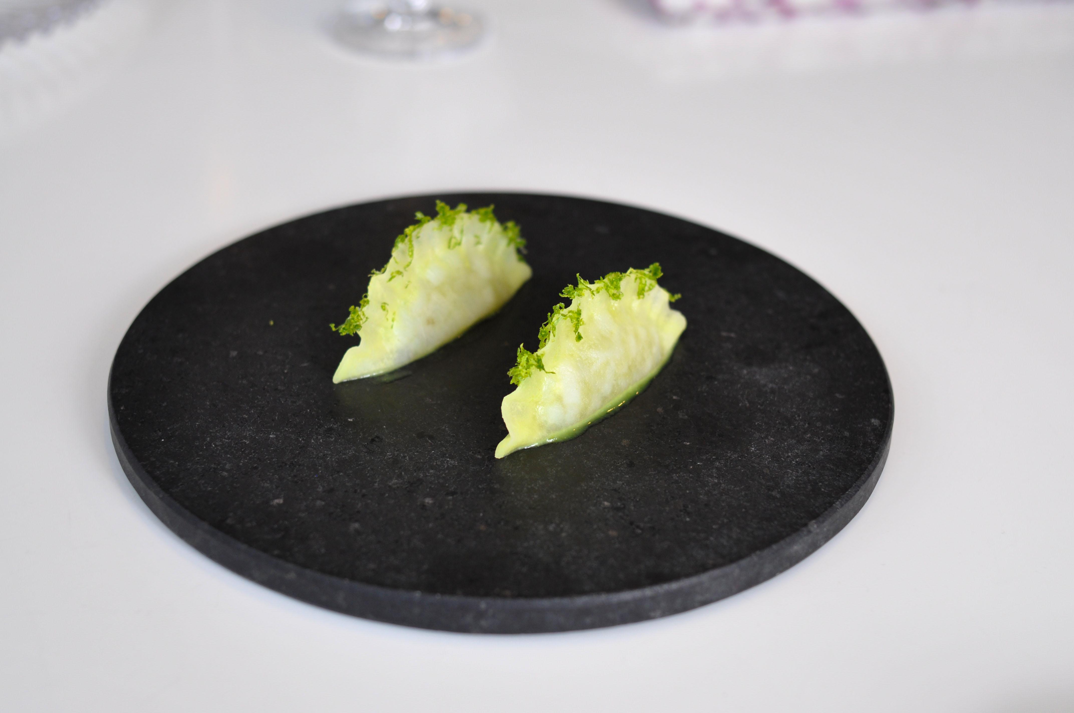 quiqiue dacosta cuttlefish turnip wasabi lime pie