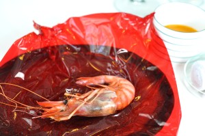 quique dacosta red king prawn from denis