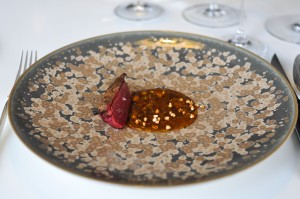 quique dacosta pigeon breast on sprout