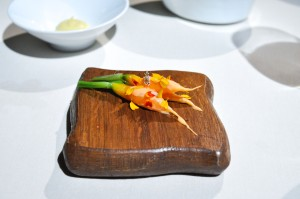mugaritz carrots smeared flowers
