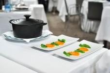Restaurante Akelaŕe akelare akelarre prawn mise en place
