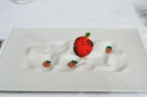 Restaurante Akelaŕe akelare akelarre strawberry and cream