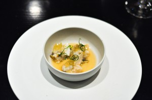 benu san francisco abalone porridge matsutake pine