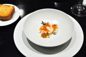 benu san francisco monkfish liver persimmon mustard