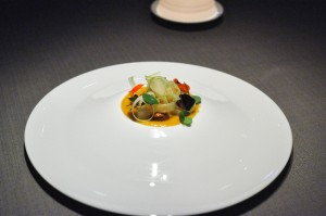 grace chicago caramelized sudachi cashew pear nasturtium