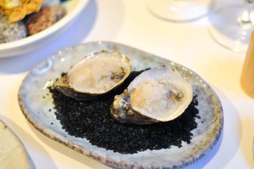 aubergine carmel oysters