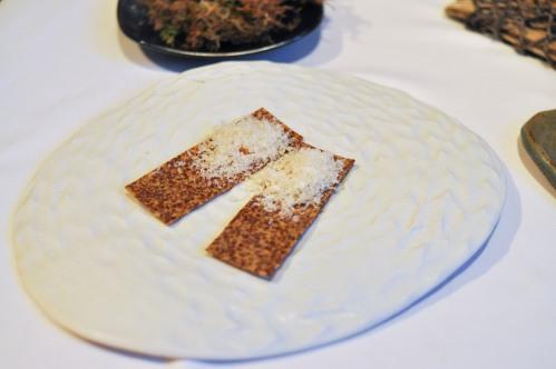 aubergine carmel flax cracker