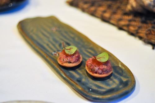 aubergine carmel kobe wagyu tartare