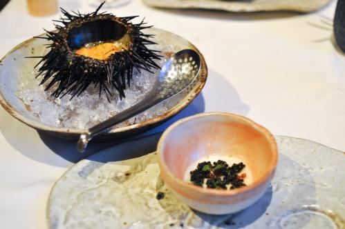 aubergine carmel sea urchin caviar