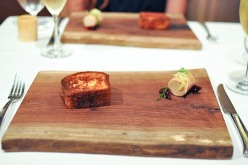aubergine carmel foie gras