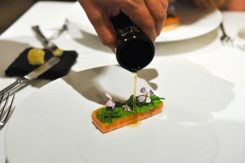 aubergine carmel king salmon