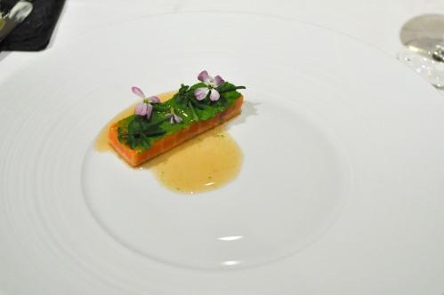 aubergine carmel salmon