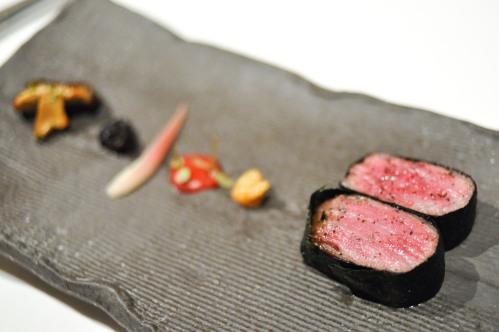 aubergine carmel wagyu beef