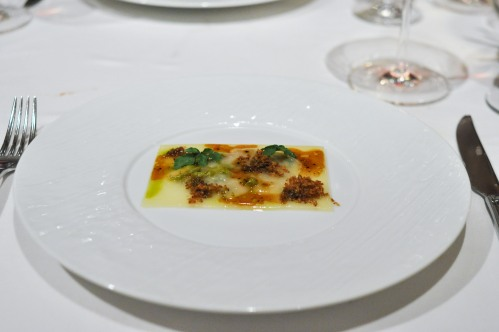 aubergine carmel cheese