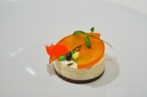 aubergine carmel peach bavarois