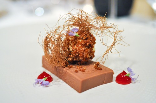 aubergine carmel smoked milk chocolate