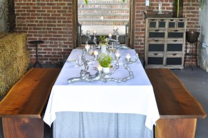blue hill table setting
