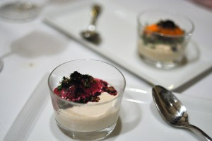 blue hill yogurt beet sorbet
