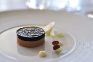 little elm foie gras black trumpet mushroom