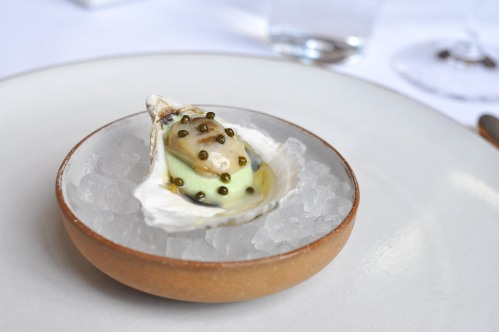 emp oyster vichyssoise caviar