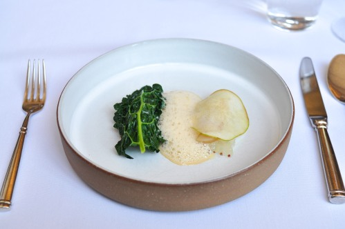 eleven madison park lobster razor clam kale