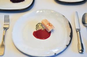 blue hill stone barns scallop beet borscht caviar