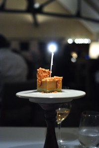 blue hill stone barns vanilla caramel birthday cake