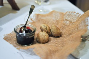 blue hill stone barns sourdough biscuit berry jam