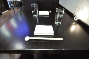 sushi nakazawa table setting