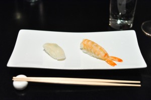 sushi nakazawa tiger prawn spearhead squid