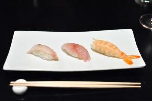 sushi nakazawa tiger prawn sable aji
