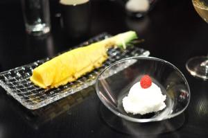 sushi nakazawa yuzu sorbet pineapple