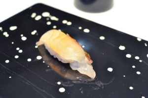 sushi nakazawa sea bream daikon