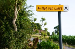 hof van cleve road sign
