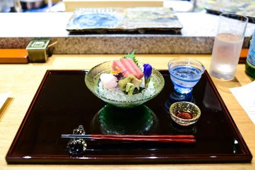tempura matsui sashimi tuna abalone